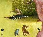 Bosch, Hieronymus - The Garden of Earthly Delights, central panel - Detail Man riding a salamander (upper left).jpg