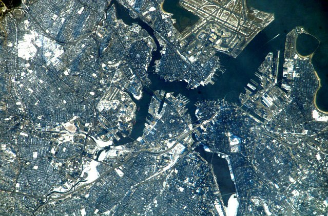 Boston Massachusetts 2007 satellite photo