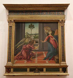 Cestello Annunciation - Image: Botticelli Annunciazione di Cestello ca. 1489 90 Uffizien Florenz 01