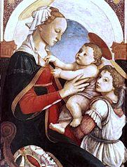 La Vierge à l'Enfant avec un ange
