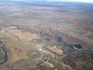 Bottomless Lakes State Park - An aerial view of the Bottomless Lakes State Park near Roswell, New Mexico
