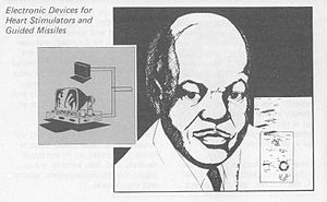 Otis Boykin - An ink drawing of Otis Boykin from a U.S. DEPARTMENT of Energy biographical sketch of 1979.