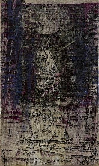 Bracha L. Ettinger - Bracha Ettinger, Painting: Matrix — Family Album series n.3, 2001.