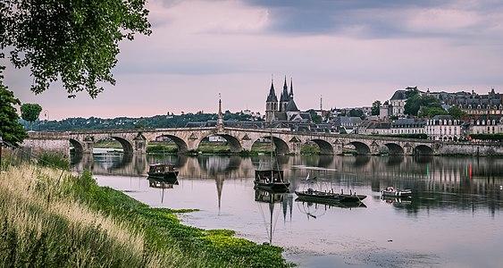 Bridge of Jacques-Gabriel in Blois, Loir-et-Cher, France