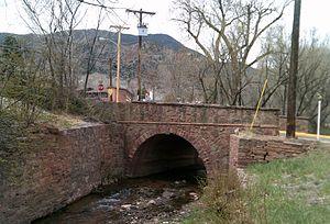 Bridge over Fountain Creek (Manitou Avenue) - Bridge over Fountain Creek, Old Mans Trail, eastern end of Memorial Park.