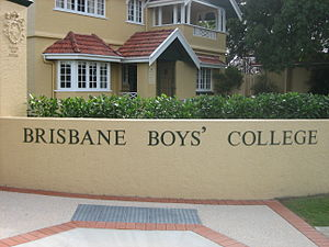 Brisbane Boys' College - Front entrance