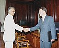 British High Commissioner Sir Michael Arthur calls on the Union Home Minister Shri Shivraj Patil in New Delhi on June 9, 2004.jpg