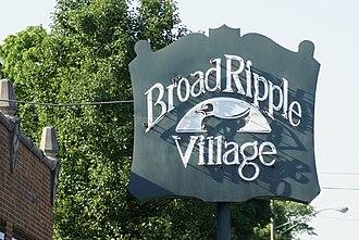 Broad Ripple Village, Indianapolis - Image: Broad Ripple Village sign, Indianapolis, Indiana