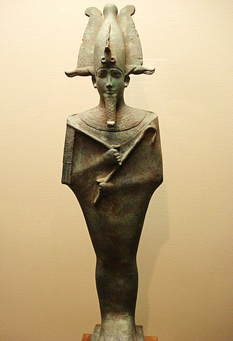 Dying-and-rising god - Bronze figurine of Osiris