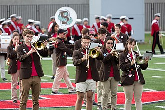 Brown University Band - The Brown University Band played at a football game at Cornell University in October 2017.