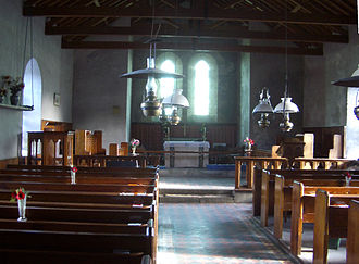 All Saints' Church, Bryher - View of the east end
