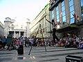 Bucuresti, Romania. Teatrul ODEON. (B-II-m-B-19854) B-FIT IN THE STREET 2018. Bubble Street Cirkus. Echilibristul Juriy Longhi.jpg