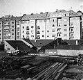 Budapest I., Bontásra váró házak a Krisztina körút (Árok utca) felől nézve. Háttérben az Attila út és az Attila (Hadúr) köz. Fortepan 55906.jpg