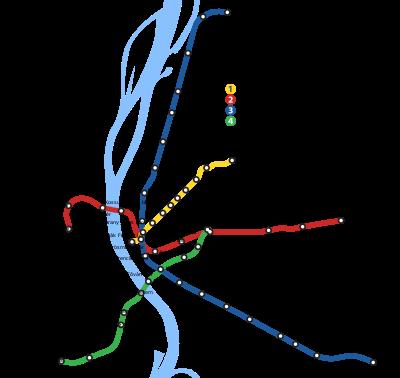 Схема линий будапештского