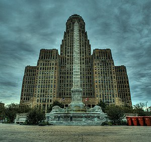 Buffalo City Hall - Buffalo's City Hall from Niagara Square