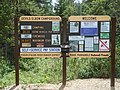 Bulletin boards at Devil's Elbow Campground (26920851338).jpg