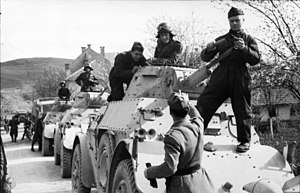 World War II in Yugoslavia - Italian armored cars in the Balkans.