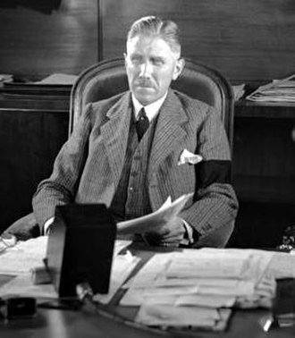 Franz von Papen - Chancellor Franz von Papen making an address on US radio in 1932