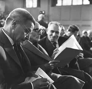 Wolfgang Langhoff - Wolfgang Langhoff (left) in 1962