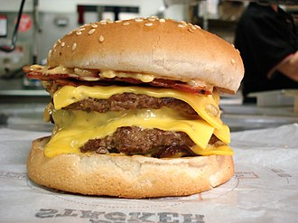 Cheeseburger - Image: Burger King Quad Stacker cheeseburger