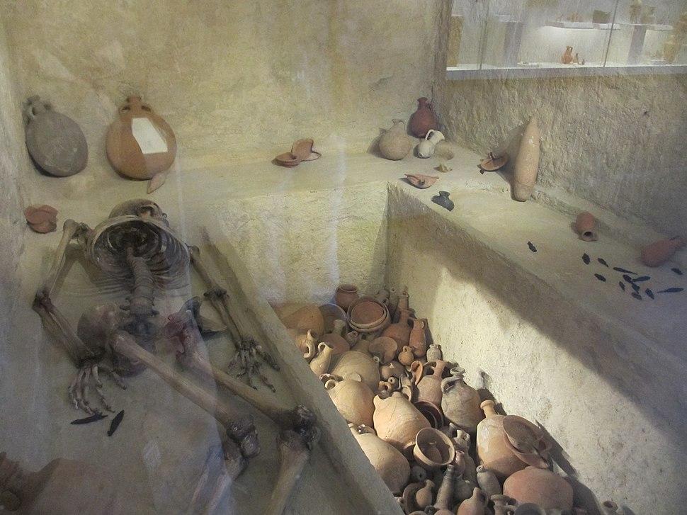 Burial cave. Ketef Hinnom. Israel Museum, Jerusalem