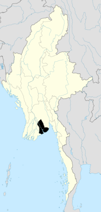 Location of Yangon Region in Burma