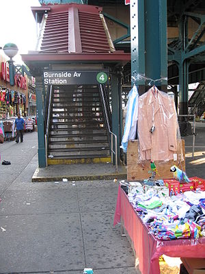 Burnside Avenue (IRT Jerome Avenue Line) - Street stair