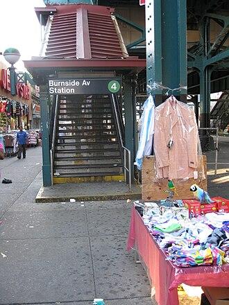 Burnside Avenue (IRT Jerome Avenue Line) - Street stair