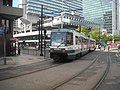 Bury-bound tram heading towards Piccadilly Gardens - panoramio.jpg