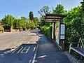 Bus stop on London Road, Old Harlow, May 2021.jpg