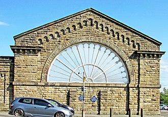 Buxton railway station - Image: Buxton Railway Station LNWR Fan Window 17.09.2016R