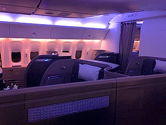 First class (aviation) - First Class on Cathay Pacific 777-300ER aircraft