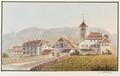 CH-NB - Twann, Pfarrhaus und Kirche - Collection Gugelmann - GS-GUGE-WEIBEL-D-140a.tif