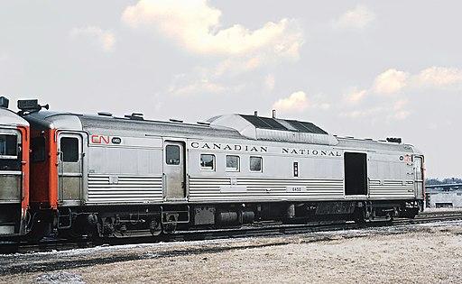 CN RDC4 6450 on Train 639-640 at Niagara Falls, ONT on April 3, 1970 (35846354502)
