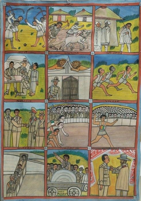 COLLECTIE TROPENMUSEUM Het leven van marathonloper Abebe Bekila in 12 afleveringen TMnr 5956-7