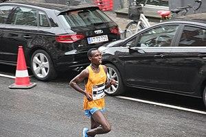 Bedan Karoki Muchiri - Karoki at the 2015 Copenhagen Half Marathon