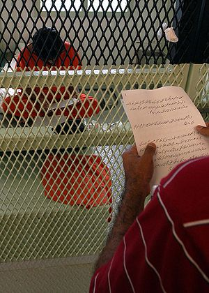 Combatant Status Review Tribunal - CSRT notice being read to a Guantanamo captive