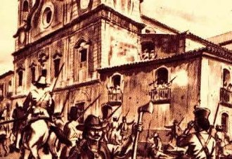Pará - 19th century engraving about on the Cabanagem