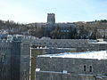 Cadet Chapel as viewed from 5th Floor of Jefferson Hall, West Point, NY.JPG