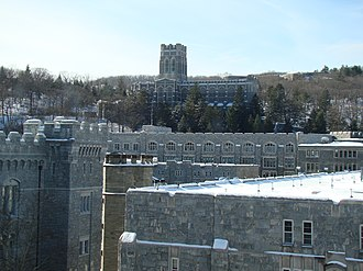 West Point Cadet Chapel - Image: Cadet Chapel as viewed from 5th Floor of Jefferson Hall, West Point, NY