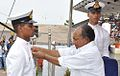 Cadet Eby P Henry being awarded the Presidents Gold Medal by AK Antony.jpg