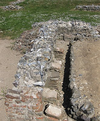 Caister Roman Site - Detail of the hypocaust at the site.