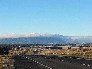 Calder Highway - Calder Freeway facing Mount Macedon