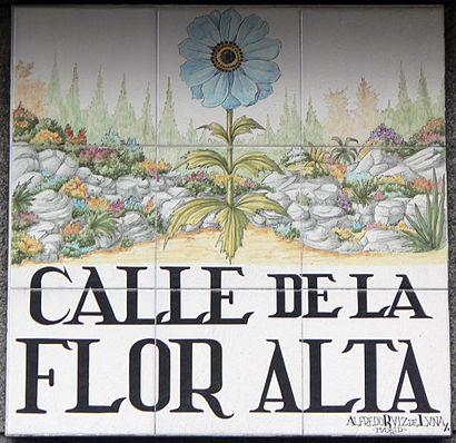 How to get to Calle De La Flor Baja with public transit - About the place