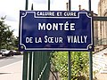 Caluire-et-Cuire - Montée de la Sœur Vially, plaque.jpg