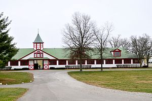 Calumet Farm - Stables at Calumet Farm, January 2012