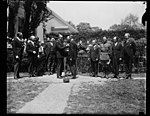 Calvin Coolidge and group outside White House, Washington, D.C. LCCN2016888781.jpg