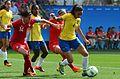 Canadá vence o Brasil no futebol feminino, na Rio 2016 (28989125862).jpg