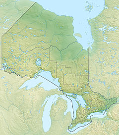 Map showing the location of Polar Bear Provincial Park