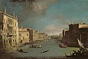 The Grand Canal, Venice, Looking North East from the Palazzo Balbi to the Rialto Bridge